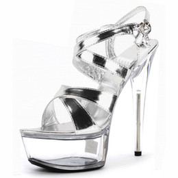 Wholesale Sexy Shoes Small Heels - Sexy party shoes size small sandals peep-toe stilettos heels oversize sandals