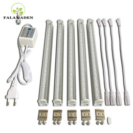 Wholesale Tube Led Light For Plants - (5pcs lot) High efficient led grow light with timer option 1-10 hours for setting 660nm red & 455nm blue led lamp for plants and aquarium