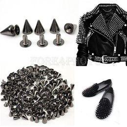"Wholesale Spots Leathercraft Rivet - Lot 3 8"" Black Spots Cone Screw Metal Studs Leathercraft Rivet Bullet Spikes"
