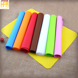 Wholesale Silicone Anti Slip Pad - Super Soft Silicon Pad Table Mat Board Rub Flour Thickened Anti Slip Silicone Baking Tray Mat Roll Mats Heat Resistant Oven Placemat