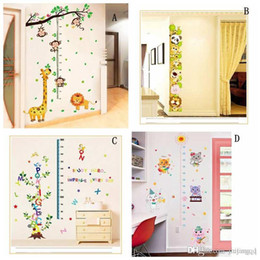 Wholesale Growing Medium Wholesale - Hot Kids Forest Monkey grow up height wall stickers 3D wallpapers wall decals removeable novelty kids room wallpaper