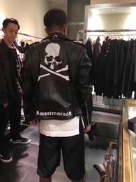 Wholesale Mens Leather Top Coat - 2018 Men Women MMJ jacket coat Japan Leather GOD fog Skeleton mens Zipper Skull Summer Cotton jacket Top Teespants pants