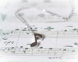 Wholesale Coppers Symbol - 10pcs lot New Fashion Necklace Delicate Musical Note Pendant Necklace for Women Love Music Note Symbol Charm Necklace Gift XL217