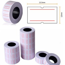 Wholesale Wholesale Cash Registers - New 10 Rolls Useful Paper Tag Price Label Sticker Single Row Denominated paper Business Free Shipping Adhesive Stickers