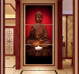 2019 olio astratto buddha Luxry 3 Pezzi Golden Hues Moderna Astratta Wall Art Pittura A Olio Buddha Picture stampa Su Tela Per La Decorazione Domestica no frame whol sconti olio astratto buddha
