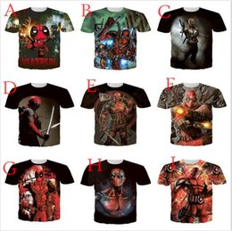 Wholesale Purple Ninja - 2016 Hot MARVEL Movie Ninja X man Deadpool 3D Men women t shirts Superhero Weapon XI New Mutants Tees Men' shirts