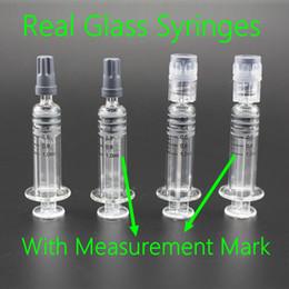 medidor de ohmios para vape Rebajas 1 ml Luer Lock Luer Head jeringa de vidrio con marca de medición 1cc inyector con marca de graduación para cartuchos de vaporizador