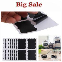 Wholesale Graphics For Sale - Hot Sale 36Pcs Set Blackboard Sticker Craft Kitchen Jar Organizer Labels Chalkboard Chalk Board Stickers Black