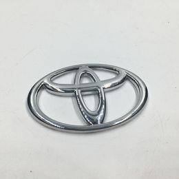 Wholesale Chrome Emblems For Cars - 7 Sizes Chrome ABS Front Hood Badge Emblem Rear Car Logo Sicker For Toyota Corolla Vios Reiz Yaris Camry Rav4 Aurion