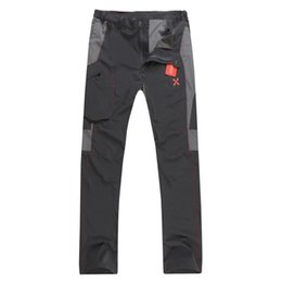 Wholesale Fast Drying Pants - Wholesale-2016 Montura Brand Mens Outdoor Elastic Quick Dry Pants For Hiking Camping Mountain Fishing Summer Sport Fast Dry Pants M-XXL