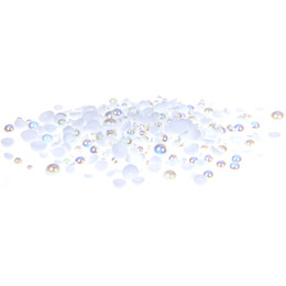 Wholesale 5mm Craft Beads - White AB Half Round Resin Pearls 500 1000pcs 2-5mm And Mixed Sizes Imitation Flatback Glue On Beads DIY Crafts Wedding Dresses