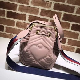 Wholesale Mini Dress Beige Free Shipping - Free shipping!genuine leather women tote hand Bag Real photo Leather Quilted bag super cute Pink flap handbag shoulder bag 476674