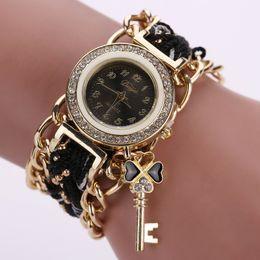 Wholesale Copper Clocks - 15% Woman Copper Stain Steel Bracelet Wrist Watch Japan Movement Quartz Watch Woman Casual Clock Free Shipping Via DHL