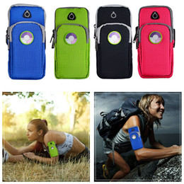 Wholesale Iphone 5s Workout - Cell Phone Sports Armband Multifunctional Pockets Workout Running ArmBag for iphone6 6plus 6s Plus 5 5S