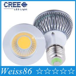 Wholesale Uniform Square - 9W LED COB Bulb Light Par20 E27 socket 110V 220V Warm Cool White LED Ceiling Spotlight Lamp Uniform lighting Bright and soft