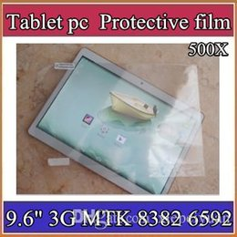 "Wholesale Android Inch Mtk6589 - 500X Original Screen Protective Film Protector Guard for 9.6"" 9.6 inch MTK8382 MTK6589 MTK6592 Android Tablet PC 4-BH"