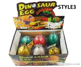 Venda de brinquedos de páscoa on-line-4 Tamanhos Ovos De Dinossauro Ovos De Páscoa Dinossauro Ovo De Páscoa Variedade De animais Os ovos podem chocar para fora animais brinquedos criativos Venda Quente