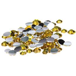 Wholesale Citrine Rhinestone Flatback - Citrine Glue On Resin Rhinestones 1000pcs 2-5mm Round Flatback Non Hotfix Crystals And Stones DIY Crafts Wedding Dress Supplies