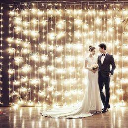 Wholesale 4m Led Strip - LED lights bulbs 10*3M, 5*4M ,8*3M Curtain Lights, Christmas ornament ,Flash Colored Fairy wedding Decoration LED Strip background L102