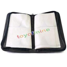 Wholesale Hot Box Dj - Hot 80 Disc Black Leather DVD VCD DJ Storage Leather Wallet Album Bag Hard Box Double side Black DVD storage case