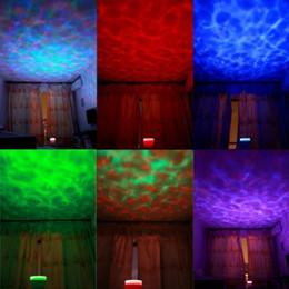 aurora master lights Promotion Mini Portable Aurora Master 7 Coloré LED Projecteurs Haut-Parleurs Romantique Océan Vague Rainbow Projecteur Haut-Parleur