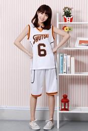 Wholesale Shintaro Midorima - 2015 Anime Kuroko no Basket Basketball White Shutoku High School Uniform Midorima Shintaro Cosplay Basketball Costume No.6 No.10