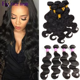 Wholesale Remy Raw Hair - Fastyle Brazilian Virgin Hair Weave Body Wave Human Hair 4 Bundles Raw Indian Peruvian Malaysian Body Wave Hair Wefts Extensions Wholesale