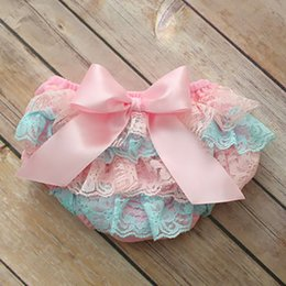 Wholesale Toddler Skirt Elastic Waist - 2016 Baby Girls Cotton Ruffle Bloomers Cute Diaper Cover Newborn Shorts Toddler fashion Summer Satin Pants with Skirt 8 colors ship by DHL