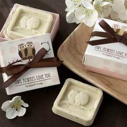 Wholesale Soap Favours - Wholesale- 20Pcs Home party Favor Gift Owl Always Love You Scented Soap For Baby Shower Christening Wedding Favour Bomboniere