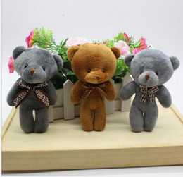 Wholesale Promotional Teddy - New big teddy bear doll conjoined tie Xiong Bao package hang wedding promotional plush toys gifts