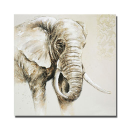 Wholesale Elephant Pictures - Elephant Painting Pictures Living Room Wall Decor Modern Painting on Canvas Hand Painted Reproduction Oil Painting No Framed