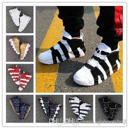Wholesale Cotton Cut Out Dress - (with box) 2017 new Air More Uptempo for High Quality Black Red White Oreo Mens Scottie Pippen Sneakers EUR 36-46