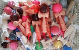 Wholesale Japanese Kendama Ball Wholesale - 15 Colors 18CM Kendama Ball Japanese Traditional Wood Game Toy Education Gifts Hot Sale, 150PCS free shipping Fedex EMS, Activity Gifts toys