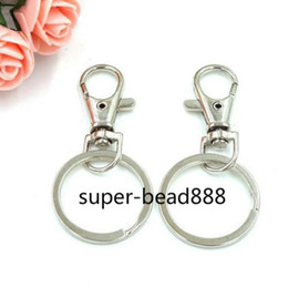 13fb887ae4f7 key hook for chain Promo Codes - 50Pcs Key Chain Porte Metal Keychain For  Keys Split