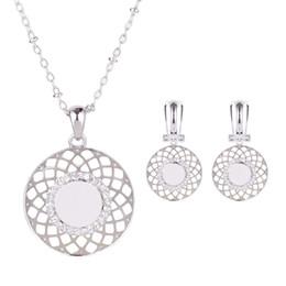 Wholesale Nest Necklace - 2016 Hot Sales Bird's Nest Crystal Rhinestone Wedding Jewelry Set Necklace And Earrings Women Crystal Fashion Jewelry Set