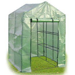 Wholesale House Assembled - 8 Shelves Greenhouse Portable Mini Walk In Outdoor Green House 2 Tier New