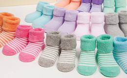 Wholesale Cheap Kids Winter Socks - 2016 new baby socks cotton Thicken baby girl cheap soft kids Socks lovely pink color for 0-6 Mos 20 pair wholesale