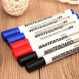 Wholesale Office Whiteboard - High Quality Free Shipping 20pcs  Red Blue Black Ink Pens Whiteboard Pen Marker pen Writing Pens Office & School Supplies Papelaria