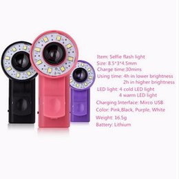 Wholesale Led Filters Light - New LED Flash 3 Filter fill-in light mode mobile phone Lens for iPhone night using beauty selfie phone flash wide angle lens