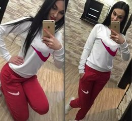 Wholesale Motorcycle Auto - Women's Sport Suits Brand New Tracksuit for women sweatshirt and Joggers sets Plus Size Autumn Winter Coat svitshot hoodie