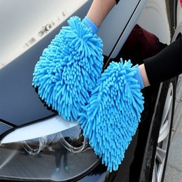 Wholesale Wholesale Chenille Microfiber Mitt - New Style Mitt Microfiber Car Wash Gloves Chenille Washing Cleaning Anti Scratch Car Cleaning Tool Washer Household Care Brush Cars Accessor