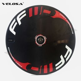 Wholesale Carbon Wheels Tubular Ffwd - FFWD Full carbon bike disc wheel,clincher tubular disc wheels for Track bike Triathlon bike  Time Trial bike, Road Track switch system
