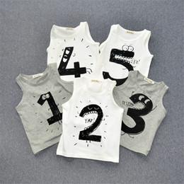 Wholesale Sleeveless Shirt For Children - 2016 Baby Boy Girl T shirt shirts Vest Summer Cotton T-shirt for Boys Girls Kids Clothes Children Clothing Infant Toddler t-shirts Tops Tees