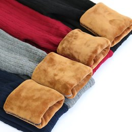 Wholesale Thick Cotton Leggings Winter - New Brand 2016 Winter Girl's Leggings Children Pants Children Warm Thick Elastic Waist Plus Velvet Leggings Colorful Trouser free shipping