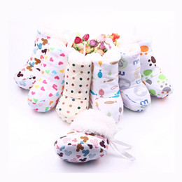 Wholesale Gray Boots For Baby - New Arrival Winter Baby Boots 6 Designs Thickened Warm In Bulk Toddler Baby Walking Shoes For Girl and Boy