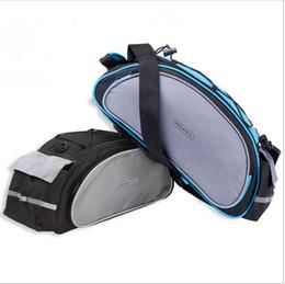 Wholesale Cycling Rear Bag - Top sale ROSWHEEL Bicycle Bags 13L Cycling Bike Pannier Rear Seat Bags Rack Trunk Shoulder Handbag Black Blue 2016 New Style
