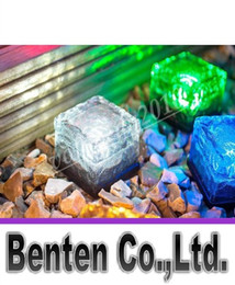 Wholesale Yard Stakes - RGB Solar Lamp Colorful Led Crystal Cube Light Garden Light Outdoor Light landscape Light Solar lawn lamp Yard Stake Decoration Light LLFA11