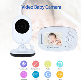 "Wholesale Sound Color Camera - Wholesale- Blueskysea Wireless Digital Night Vision Video Baby Monitor Camera Two Way Audio Sound Lullaby Temperature Sensor 2.4""LCD Screen"