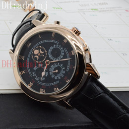 Wholesale Craft Hands - Men's luxury 5002 complex craft machine automatic style luxury watch back quartz watch, sun and moon star series double-sided work!