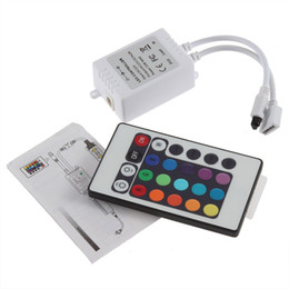 Wholesale Controller For Rgb - Dream color LED strip controller 24 keys IR Remote Controller for RGB strip